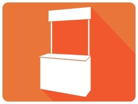Kiosk, Sampling booth (alu frame)