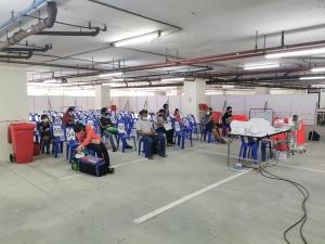 จุดตรวจคัดกรองโควิด19 ที่โรงพยาบาลบางพลี